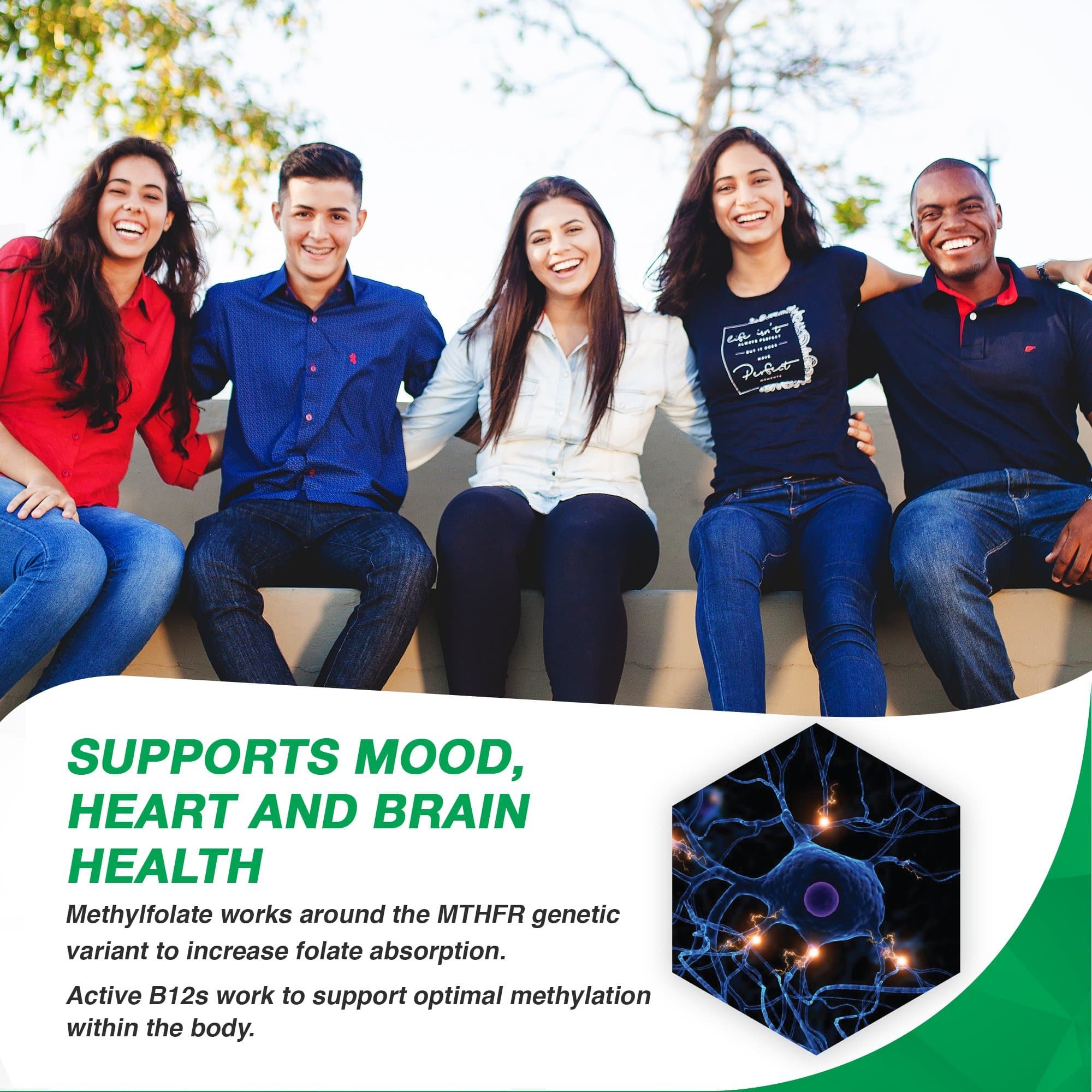 l-methylfolate 7.5 mg supports mood, heart and brain health