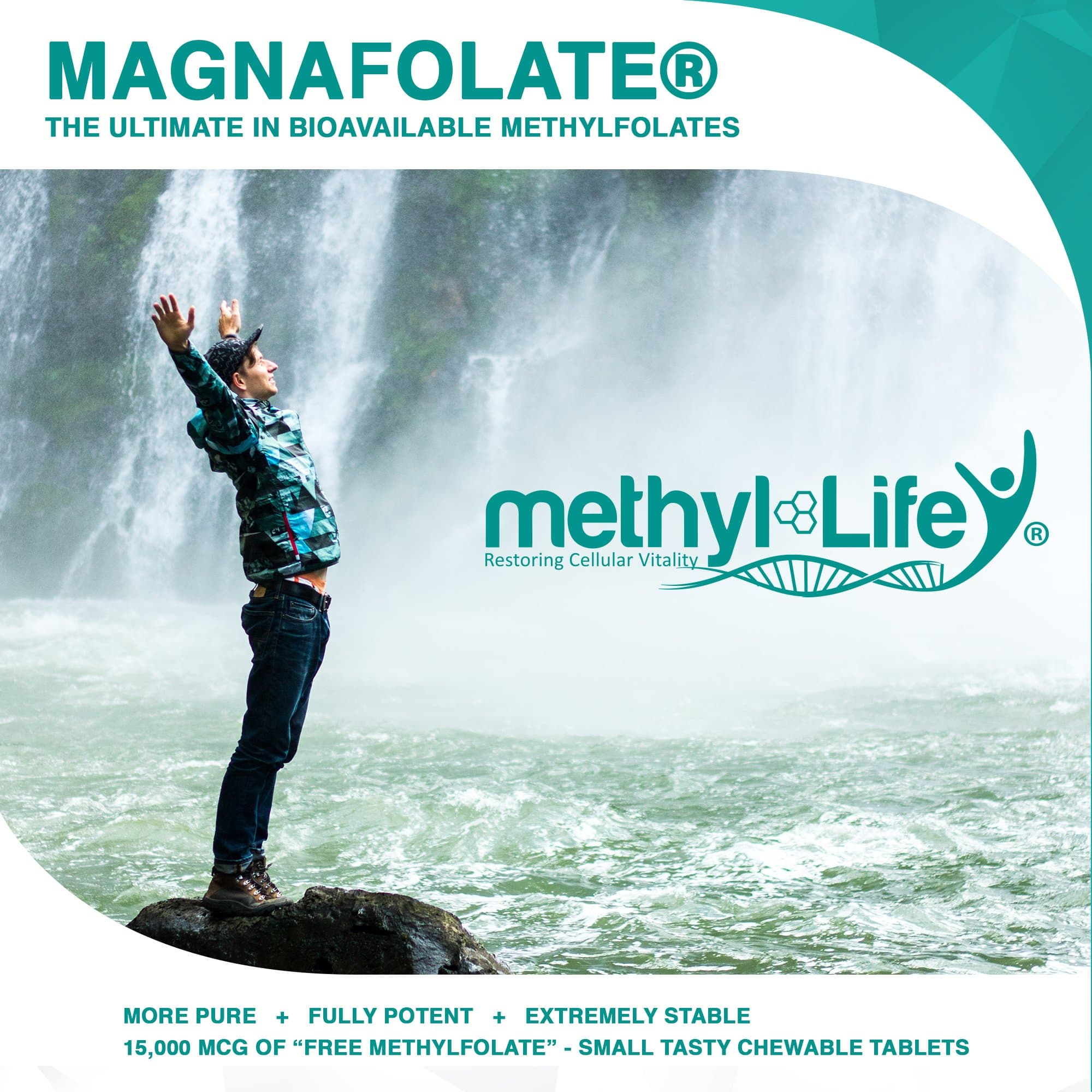 Methylfolate 15 mg - Elevate Mood - Purest L-Methylfolate - 3 month supply - Chewables