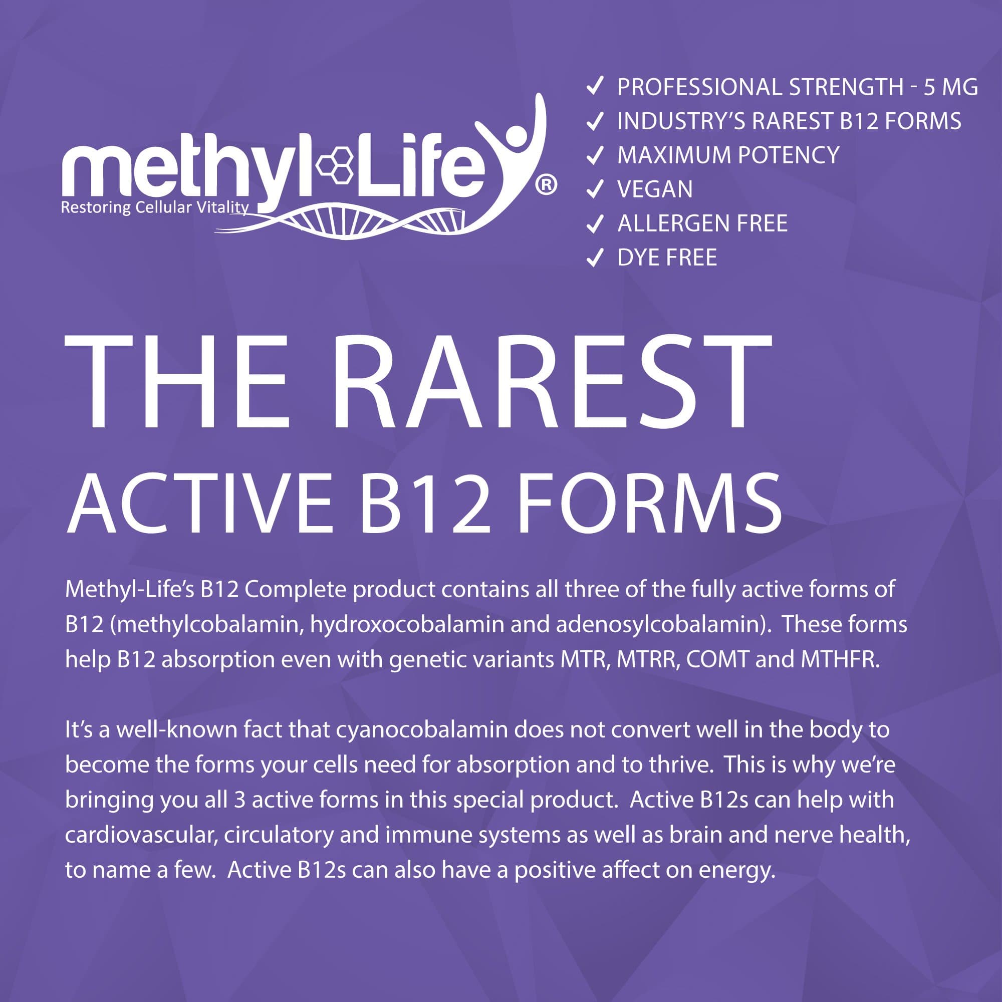 b12 complete (the rarest active b12 forms)