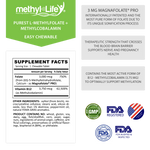 B-Methylated-II - L-Methylfolate 3 mg + Methylcobalamin 3.75 mg - Pregnancy/Cardiovascular/Nerve Health - 3 month supply - Chewables