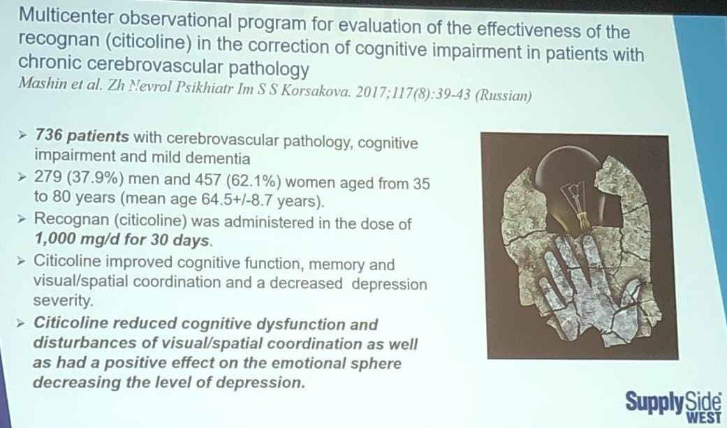 supplements for brain focus - multicenter observational program for evalaution of the effectiveness of the recognan (citicoline) in the correction of cognitive impairment in patients with chronic cerebrovascular pathology