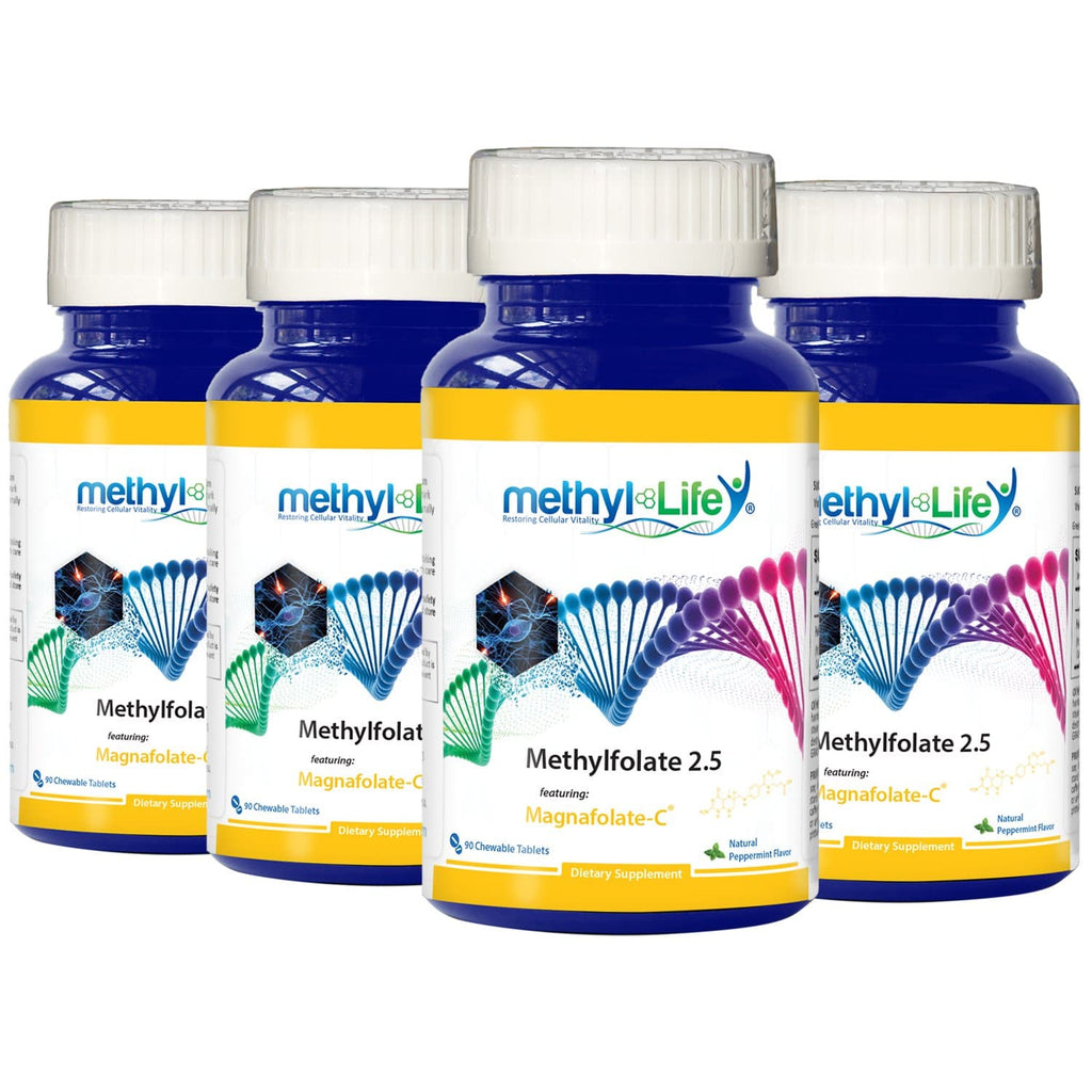 Wholesale: 4-pack of Methylfolate 2.5