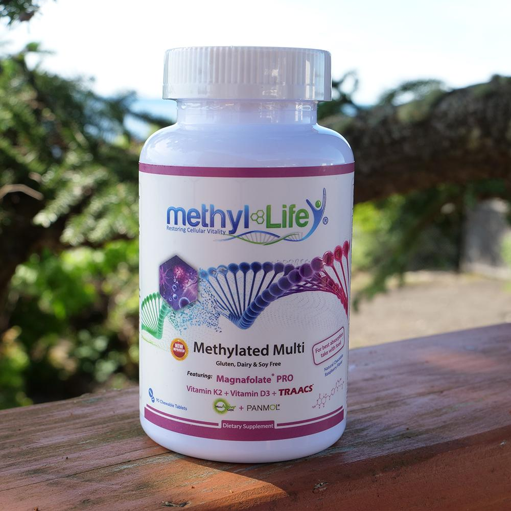 Chewable Methylated Multivitamin - L-Methylfolate 1 mg + Active B12 - MTHFR/Pregnancy/Children - 30 Adult Servings