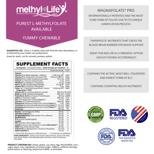 methylated multivitamin (yummy chewables - supplement facts))