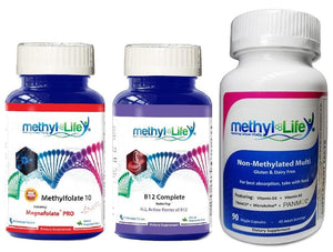 Mood Support Bundle - L-Methylfolate 10 mg + Active B12 Complete + Non-Methylated Multi + Cognitive