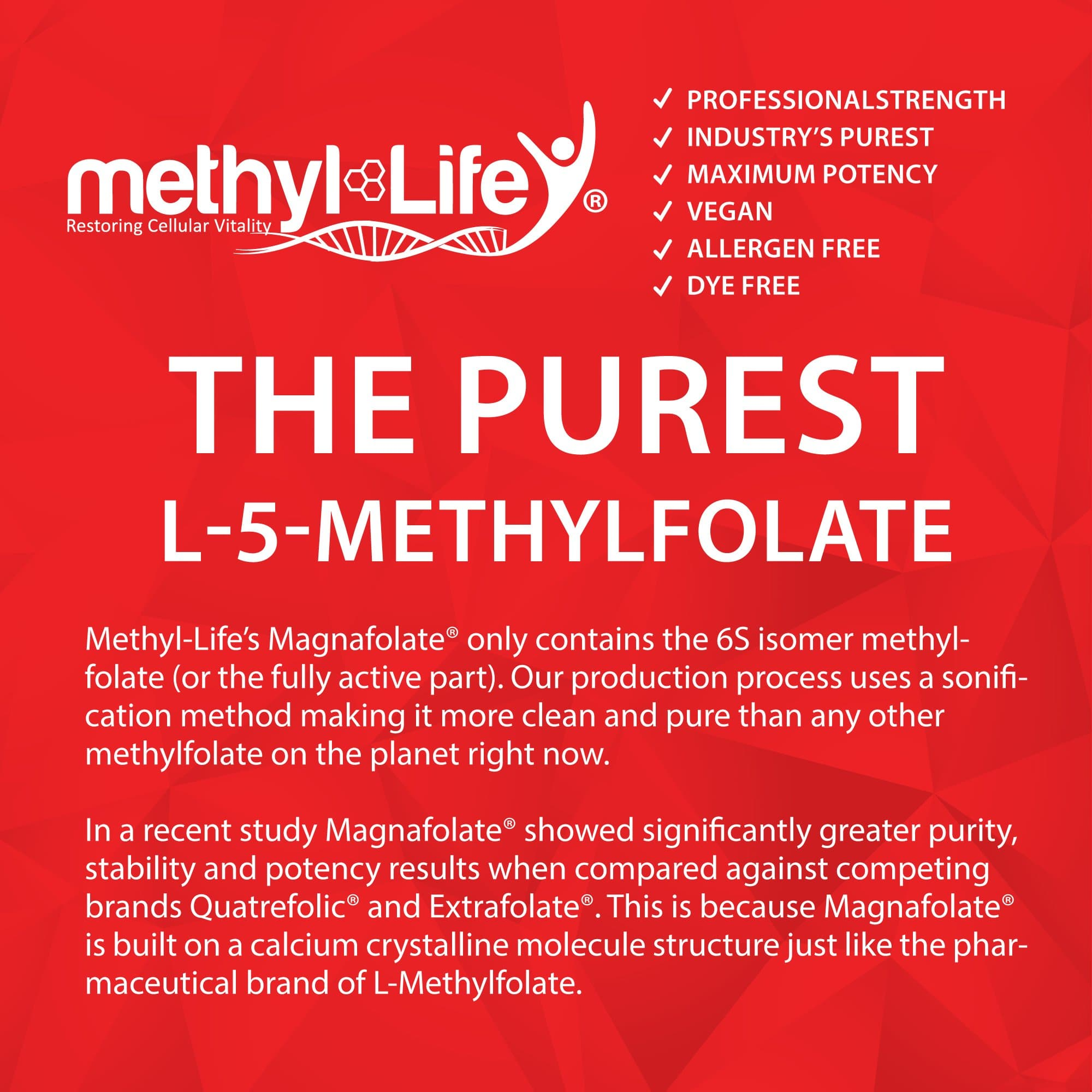 l-methylfolate 10 mg (purest l-5-methylfolate)