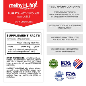 l-methylfolate 10 mg supplement facts