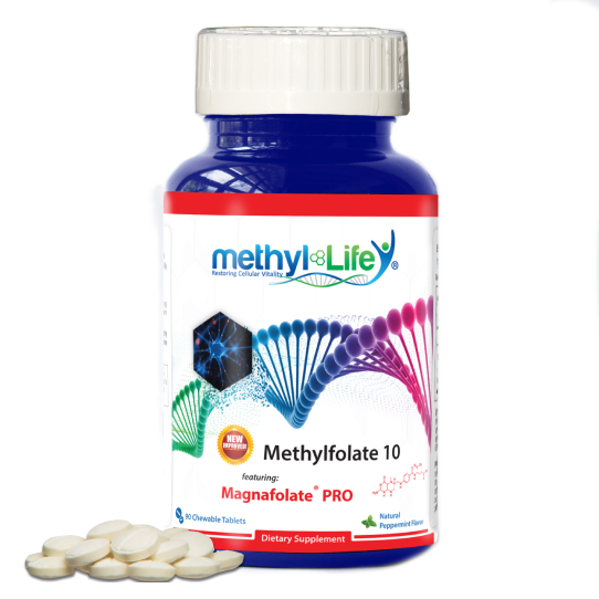 Methylfolate 10 mg - Raise Mood - Purest L-Methylfolate - 3 month supply - Chewables