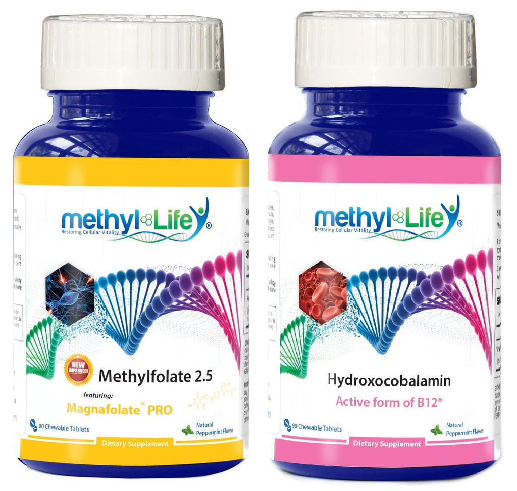 Actives for Sensitives Bundle - L-Methylfolate 2.5 mg + Hydroxocobalamin 2.5 mg - 3 month supply - Chewables