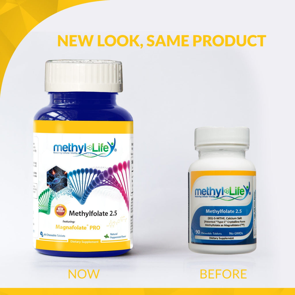 Methylfolate 2.5 mg - Purest Active L-Methylfolate - 3 month supply - Chewables