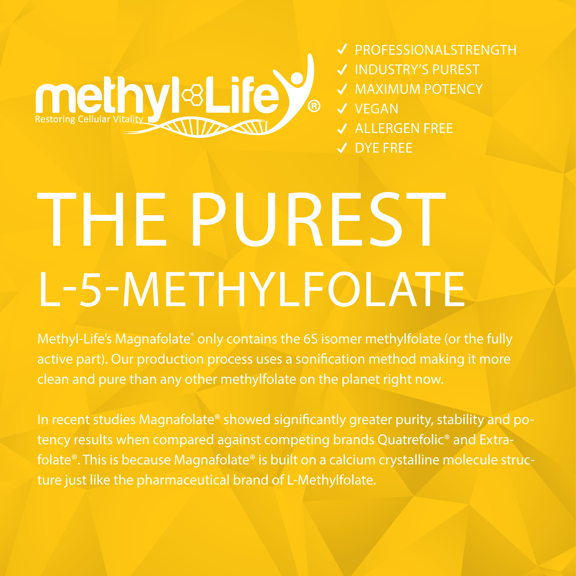 l-methylfolate 2.5 mg (purest l-5-methylfolate)
