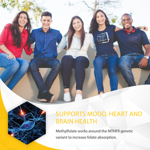 l-methylfolate 2.5 mg supports mood, heart and brain health
