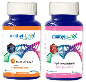 Brain Protect Bundle - L-Methylfolate 5 mg + Active B12 as Hydroxocobalamin 2.5 mg - 3 month supply