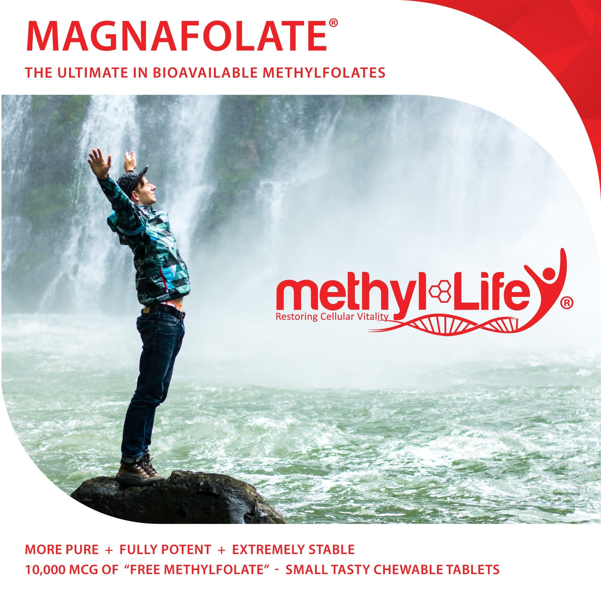 Methylfolate 10 mg - Purest L-Methylfolate - 3 month supply - Chewables