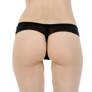 La Perla Ladies Black Lace Thong Panty