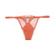Ladies Orange Mesh Thong Panty