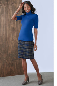 Wool-Blend Pencil Skirt - Petite