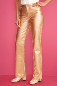 Genuine Leather Bootcut Pant - Tall
