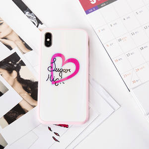White Pink For iPhone X/ iPhone Xs Phone Case
