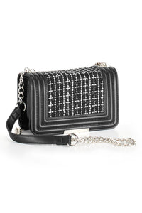 Black Chain-Strap Crossbody Bag - Misses
