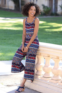 Printed Jumpsuit - Misses