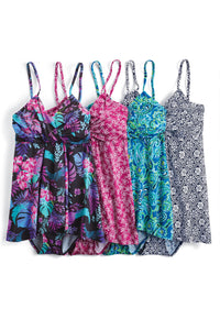 Printed Flyaway Two-Piece Tankini - Misses