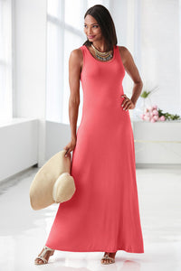Rayon Jersey Maxi Dress - Misses