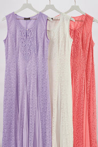 Lace Georgette Maxi Dress - Misses