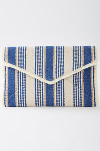 Stripe Pattern Envelope Clutch - Misses