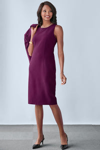 Suiting Separates Fully Lined Sheath Dress - Misses