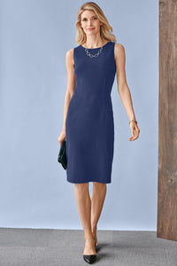Suiting Separates Fully Lined Sheath Dress - Petite