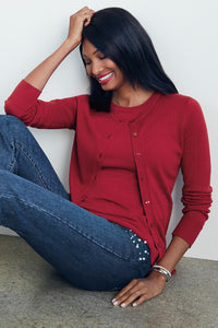 The Caroline Cardigan Sweater Twinset - Misses