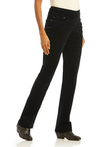 Comfort Waist Corduroy Bootcut Pull-On Pants - Misses