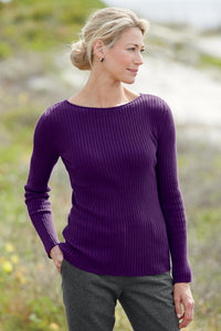 Essential Ribbed Ballet Neck Sweater - Tall
