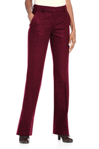 Fully Lined Bootcut Wool-Blend Pants - Petite