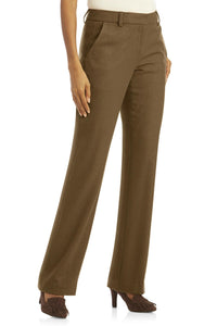 Fully Lined Bootcut Wool-Blend Pants - Tall