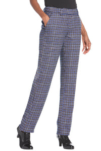 Fully Lined Straight Leg Wool-Blend Pants - Petite