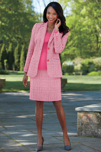 Fully Lined Wool Blend Blazer - Misses