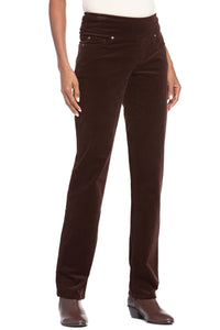 Comfort Waist Corduroy Straight Leg Pull-On Pants - Misses