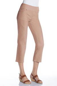 Brushed Twill Pull-On Crop Pants - Tall