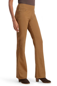 Brushed Twill Pull-On Bootcut Pants - Petite