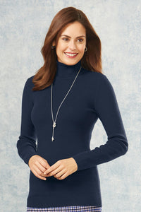 Sumptuously Soft Mini Rib Turtleneck Sweater - Misses