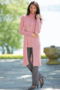 Ribbed Duster Twinset - Plus