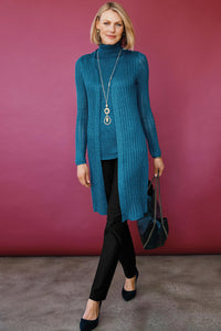 Ribbed Duster Twinset - Misses