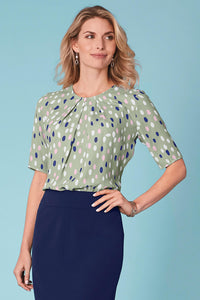 Pleated Neckline Blouse - Tall