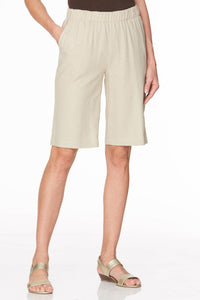Relaxed Fit Linen Pull-On Short - Plus