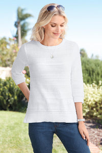 Textured Pullover Sweater - Misses