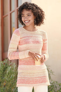 Stripe Pullover Sweater - Misses