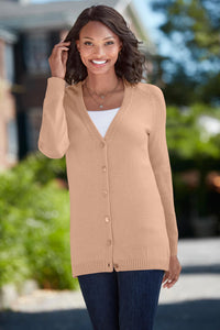 Touch Of Cashmere V-Neck Cardigan Sweater - Tall