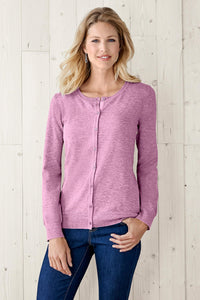 Classic Ribbon Trim Knit Cardigan - Misses